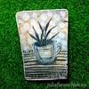 76/365 Tea Bag Art. Tea cup (Julia Faranchuk) Tags: juliafaranchukru mixedmedia бумага paper рисование drawing art artist художник чайныйпакетик чай творчество creativity проект365 365чай teabagart teabagartist teabag tea teabagartwork recycled reused cup plant