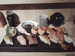 Sushi in Taichung, Taiwan (alisaschen) Tags: 忍者壽司 sushi taichung taiwan 台中 台灣 food japanese asian cuisine taiwanese roc 壽司
