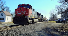 Northbound NS with a CN leader at Milford Junction Indiana (Matt Ditton) Tags: milford junction indiana cn