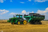Field Runner | JOHN DEERE // ELMER'S (martin_king.photo) Tags: cornharvest2016 corn harvest 2016 john deere johndeere johndeeres690i tracks johndeere616c16rowcornheaders jd616c johndeere8370rt elmer'smanufacturing 1600bushelhaulmaster elmes manufacturing haulmaster graincart grain cart ctf controlledtrafficfarming beltconveyor field season havest2016 martin king photo agriculture machinery machines tschechische republik weather powerfull martinkingphoto green mais maize huge big strong machine modernagriculture agricultural blue fields colorful work working summer greatdayschlepper landtechnik landwirt landwirtschaft runner speed panning rolling rollingshot shooting photographer photography sky clouds yellow