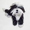 Custom Beaded Havanese Dog Pin Pendant (The Lone Beader) Tags: beads beadwork beadembroidery beading beadedanimal thelonebeader etsy handmade pets jewelry dogs dogjewelry brooch seedbeads