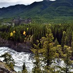 Bow River and the Banff Springs Hotel from Surprise Point (Banff National Park) thumbnail