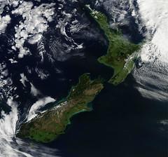 New Zealand (skaradogan) Tags: nasa satelliteimage newzealand northauckland kaiparaharbor tasmansea