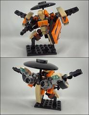 "F-46 ""Vandella"" - Soldier Loadout (phayze81) Tags: mech mecha robot mfz mf0 mobileframezero mobileframe microscale lego moc scifi sciencefiction legophotography toyphotography"