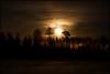 Månuppgång över Bennäsvägen (Jonas Thomén) Tags: night natt field åker snow snö träd trees clouds moln moon månen moonrise månuppgång road street väg gatlampor streetlights