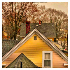 Chimney Smoke (Timothy Valentine) Tags: square fbpost 0218 large rooftop chimney 2018 hrsw attleboro massachusetts unitedstates us