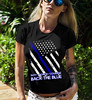 Back The Blue. Duty. Honor. Courage. Police. Women's: Gildan Ladies' 100% Cotton T-Shirt. Black.  | Loyal Nine Apparel (LoyalNineApparel) Tags: 2a blueline cute fashion fashionista girlsthatshoot girlswithguns girly gungirl instafashion instagood lawenforcement leo loyalnineapparel loyalnineclothes molonlabe ootd patrioticwomen pewpew pewpewlife police stylish tee teeshirt thinblueline tshirt womensfashion womensshirt womenstee womenwhoshoot