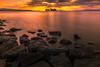 sunset 1950 (junjiaoyama) Tags: japan sunset sky light cloud weather landscape orange color lake island water nature rocks calmness rays beams spring