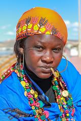 Nina - African Lady (NiiiiiJ) Tags: flickrtravelaward morocco agadir africanlady colours colourfulportrait nina cheroot
