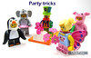 Party tricks (WhiteFang (Eurobricks)) Tags: lego collectable minifigures series city town space castle medieval ancient god myth minifig distribution ninja history cmfs sports hobby medical animal pet occupation costume pirates maiden batman licensed dance disco service food hospital child children knights battle farm hero paris sparta historic brick kingdom party birthday fantasy dragon fabuland circus