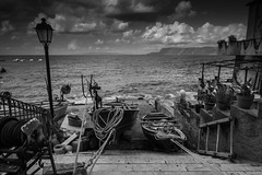 Scila in BW (paolotrapella) Tags: scilla bw blackandwhite clouds cielo sky barche boats sea water acqua calabria italy