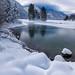Winter by the Predil lake