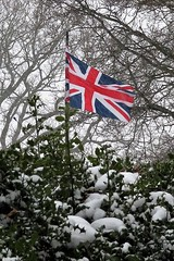 Cool Britannia (Dave Cool Britannia) Tags: britannia coolbritannia unionjack flag snow hilly winter 2018 march beastfromtheeast cold wind globalwarming climatechange alarmists globalcooling ice iceage climate weather fakenews