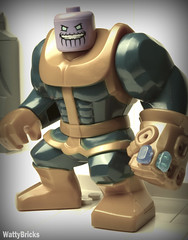 Fun Isn't Something One Considers When Balancing The Universe (WattyBricks) Tags: lego marvel superheroes thanos mcu infinity war gauntlet stones mad titan