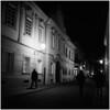 Walking Down The Street (Koprek) Tags: rolleiflex28f ilfordhp5 1600 low light nightlight croatia varaždin