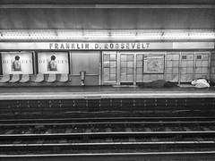 Paris Métro/Make seats so that no one can lie down and sleep .... (xavier Legall) Tags: homeless paris black design france whire white metro subway tube