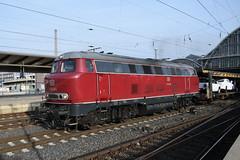 DB V160 002 (davidvines1) Tags: rail freight cargo wagons cartransporter diesel locomotive db v160 bremen hauptbahnhof station germany