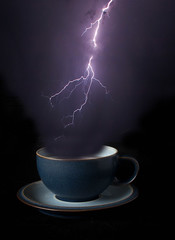 Storm in a Tea Cup (Chris Wood 1954) Tags: photoshop storm teacup arty abstract