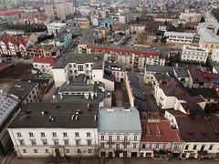 Sąd i kamienice przy Piłsudskiego w Siedlcach znad dawnego ratusza