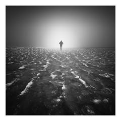 Frozen light (Marco Maljaars) Tags: seascape frozen empty mood alone light longexposure le bw blackandwhite ice markermeer ijsselmeer marcomaljaars monochrome sea air