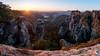 Höllenhund (MD-Pic) Tags: sächsischeschweiz saxonswitzerland sachsen saxony sonnenaufgang sunrise landschaft landscape panorama felsen rocks sun sonne elbsandsteingebirge germany deutschland nikon d750 tamron 1530