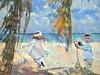 The Photographer (Sharksladie1) Tags: digitalpainting beach children whimsical camera photographer kids play ocean tropical
