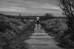 Runners World (@bill_11) Tags: runner pegwellbay rain puddles path