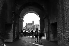 Mirador (Campanero Rumbero) Tags: rome roma italy italia europe europa coliseo coliseoromano monocromo bn travel turismo trip turistas people gente city ciudad inside arco