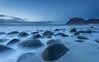 Round stones (Mika Laitinen) Tags: canon5dmarkiv europe lofoten norway norwegiansea scandinavia uttakleiv beach blue cloud cold dreamscape landscape longexposure mountain nature ocean outdoors rock sea seascape sky sunset twilight water winter nordland no