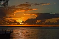 Key Largo Sunset (ACEZandEIGHTZ) Tags: key largo floridakeys monroecounty nikon d3200 orange colors sundowners restaurant dockside view