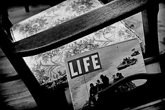 "'That's Life"" (John Ilko) Tags: 500px life magazine periodical wwii warera chair emptychair rocker rockingchair fujifilm xe2 35mmf14 35mm blackwhite monochromeg vintage primelens"