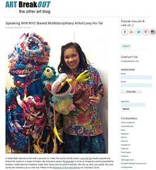Lexy Ho-Tai at the Museum of Arts and Design (LoisInWonderland) Tags: lexyhotai fiberart softsculpture museumofartsanddesign