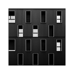 Windows (Jean-Louis DUMAS) Tags: windows fenêtre bw building noiretblanc noir noretblanc black art architecture architecte artist artistic artiste artistique architect abstract abstrait abstraction immeuble bordeaux