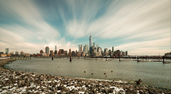 Another Afternoon (Gary Walters) Tags: freedomtower water gary walters buildings cityscape snow city longexposure nyc a7r ii a7r2 rocks geese waterfowl skyline sony nj a7rii garywalters landscape
