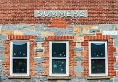Summers (Karen_Chappell) Tags: building brick window windows urban city downtown stjohns architecture three 3 newfoundland nfld atlanticcanada canada orange