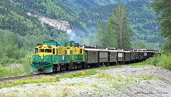 Back in Time for Lunch (GRNDMND) Tags: trains railroads whitepassyukon wpy locomotive mlw alco dl535 skagway alaska