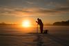 pilkkijä kairaus_firherman drilling the ice (2) (iisalmiregion) Tags: pilkkijä pilkkiminen ice fishing winter fisherman wintermorning sunrise