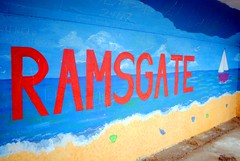 East Cliff Ramsgate Mural (zawtowers) Tags: ramsgate thanet kent historic seaside town harbour port resort saturday 10th march 2018 changeable weather rain wet east cliff front promenade mural art public sea sand sailing boat