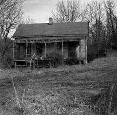 Empty (Nickademus42) Tags: film photography podcast project 35mm black white hasselblad 500cm kodak tmax 100 kentucky abandoned empty derelict