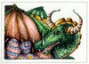 Happy Easter / Fröhliche Ostern 😀 (1elf12) Tags: dragon drache osterei egg filzstift drawing zeichnung easter smileonsaturday eggcellent marker felttippen