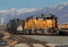 Chop Top GP39-2 (jamesbelmont) Tags: unionpacific chevronlocal saltlakecity becks petroleumcoke emd gp392 gp151 railway