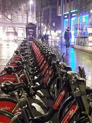 London bikes and lights.... (markwilkins64) Tags: london bikes bikerack streetphotography street night lights
