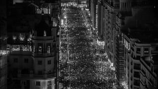 Día de la Mujer Trabajadora, 8-M, Madrid, Gran Vía