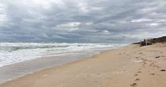 The Solitude Of Surf (Ron B Cash) Tags: florida beach floridabeach capecanaveralnatlseashore shoreline shore ocean atlanticocean cloudy solitude sony hx9v