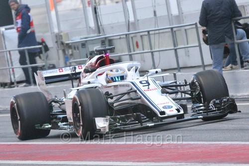 Marcus Ericsson in Formula One Winter Testing 2018