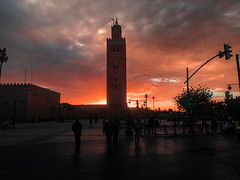 Koutabia Mosque Marrakech Morocco beautiful sundown (Riemer Photography) Tags: koutabiamosquemarrakechmoroccobeautifulsundowncalmcitytraveltravelingsunlandscape koutabia mosque marrakech morocco beautiful sundown calm city travel traveling sun landscape africa afrika marokko moschee