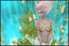 Snapshot_015 (ReenaStark) Tags: sl secondlife avatar avatars pinkhair lady girl woman inworld mermaid mermaids underwater water sea seas ocean oceans beach beaches fish seaweed fantasy mythical myth mythicalcreature