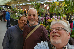 the 2018 pacific orchid exposition: selfie with alfred hockenmaier & partner    2-18 (nolehace) Tags: poe pacificorchidexposition 218 2018 pacific orchid exposition winter nolehace sanfrancisco fz1000 flower bloom plant selfie alfred me
