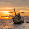 Edro III (Theunis Viljoen LRPS) Tags: abandoned cyprus edroiii onirobythesea paphos reflection romantic sad sea shipwreck sunset
