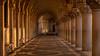 touched by light (hjuengst) Tags: venice venezia venedig dogenpalast doge´spalace palazzoducale italy italien italia sunrise sonnenaufgang goldenlight golden goldeneslicht goldenhour arcades arkaden sanmarco